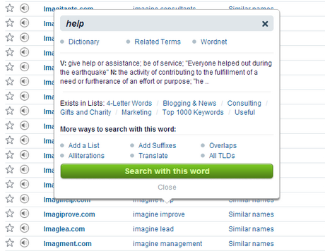 Keyword suggestions, definitions, thesaurus.